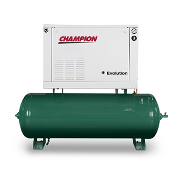 Champion Evolution Horizontal Tank Compressor Front View